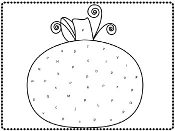 P is for Polka Dot Pumpkin!