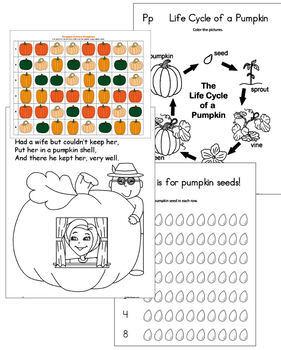 P is for Pumpkin - Fall Skills for PreK - Kindergarten