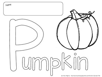 P is for Pumpkin Printable