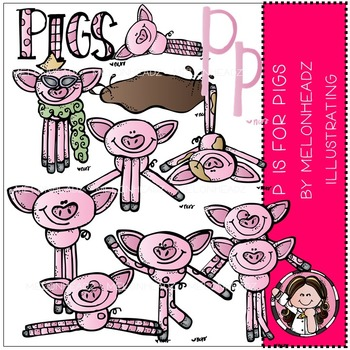 P is for pigs by Melonheadz COMBO PACK