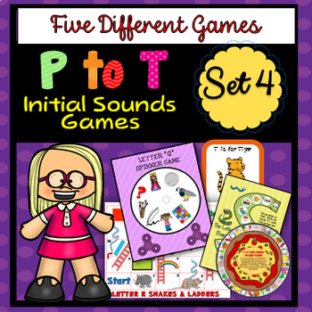 P to T Initial Sounds - Five Different Games