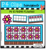 P4 10 FRAMES Flowers (P4 Clips Trioriginals)