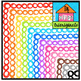 P4 AMAZING 8 RAINBOW Borders BUNDLE (P4 Clips Trioriginals Clip Art)