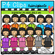 P4 AMAZING 8 RAINBOW P4 KIDS Girls (P4 Clips Trioriginals Clip Art)