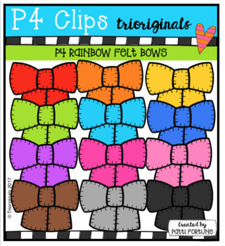 P4 AMAZING 8 RAINBOW Felt (P4 Clips Trioriginals Clip Art)