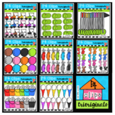 P4 AMAZING 8 RAINBOW Golf Bundle (P4 Clips) GOLF CLIP ART