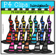 P4 AMAZING 8 RAINBOW Halloween Fun (P4 Clips Trioriginals Clip Art)