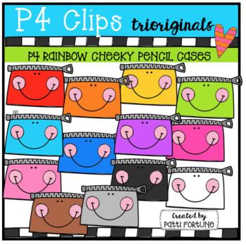 P4 AMAZING 8 RAINBOW School Supplies #1 (P4 Clips Trioriginals Clip Art)