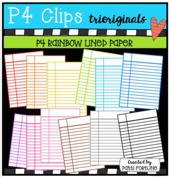 P4 AMAZING 8 RAINBOW School Supplies BUNDLE (P4 Clips Trioriginals)