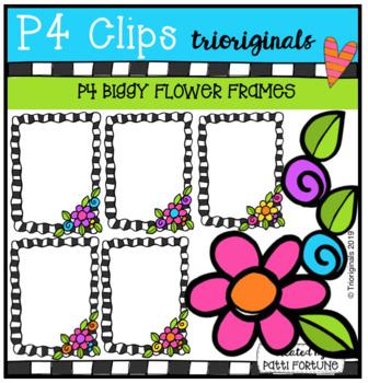 P4 BIGGY Flower Frames (P4 Clips Trioriginals) SPRING CLIPART