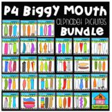 P4 BIGGY MOUTH Alphabet Pictures BUNDLE (P4 Clips Trioriginals)