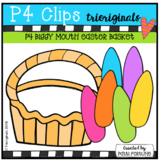 P4 BIGGY MOUTH Easter Basket (P4 Clips Trioriginals Clip Art)