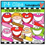 P4 BIGGY MOUTH Valentine's Day (Valentine Clip Art) P4 Cli
