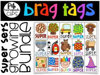 P4 BRAG TAGS ALL ACCESS Super Sets GROWING BUNDLE (P4 Clips)