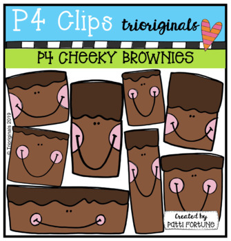 P4 CHEEKY Brownies (P4 Clips Trioriginals) FOOD CLIPART