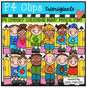 P4 CHEEKY Calendar Biggy Pencil KIDS (P4 Clips Trioriginals)