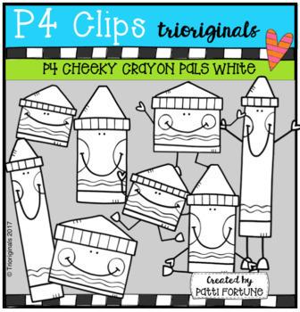 P4 CHEEKY Crayon Pals BUNDLE (P4 Clips Trioriginals Clip Art)