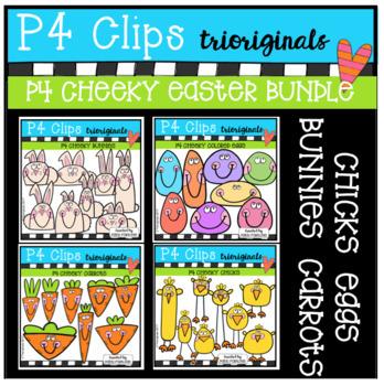 P4 CHEEKY Easter BUNDLE (P4 Clips Trioriginals Clip Art)