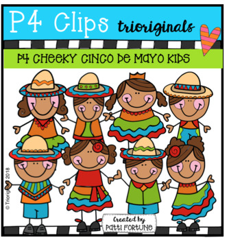 P4 CHEEKY Fiesta KIDS (Cinco de Mayo) P4 Clips Trioriginals