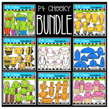P4 CHEEKY BUNDLE (P4 Clips Trioriginals Clip Art)