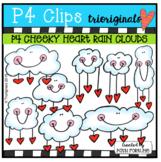 P4 CHEEKY Heart Rain Clouds (P4 Clips Trioriginals) VALENTINE CLIPART