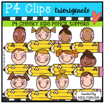 P4 CHEEKY KIDS Pencil Toppers (P4 Clips Trioriginals)