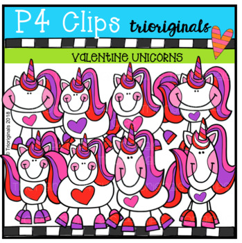 P4 CHEEKY Valentine Unicorns (P4 Clips Trioriginals)