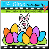 P4 COUNTS 1-10 Bunny and Eggs (P4 Clips Trioriginals Clip Art)