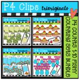 P4 COUNTS 1-10 Fishy BUNDLE (P4 Clips Triorginals Clip Art)