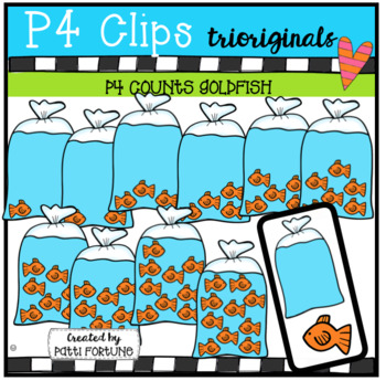 P4 COUNTS 1-10 Fishy BUNDLE (P4 Clips Triorginals Clip Art)