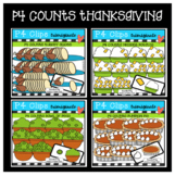 P4 COUNTS 1-10 Thanksgiving Dinner BUNDLE (P4 Clips Trioriginals Clip Art)