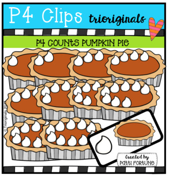P4 COUNTS 1-10 Thanksgiving Dinner BUNDLE (P4 Clips Trioriginals Clip Art)