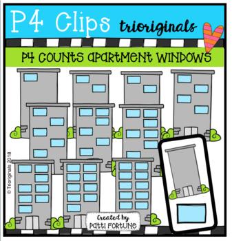 P4 COUNTS Apartment Windows (P4 Clips Triorignals)