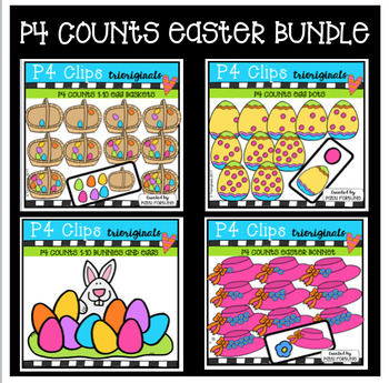 P4 COUNTS Easter BUNDLE (P4 Clips Trioriginals Clip Art)