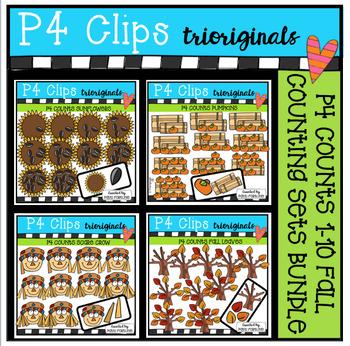P4 COUNTS Fall BUNDLE (P4 Clips Trioriginals Clip Art)