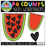 P4 COUNTS Heart Watermelons (P4 Clips Trioriginals) COUNTI