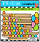 P4 COUNTS IN A ROW Easter BUNDLE P4 Clips Trioriginals) EASTER CLIP ART