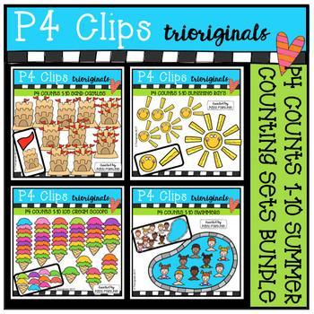 P4 COUNTS SUMMER BUNDLE (P4 Clips Trioriginals Clip Art)