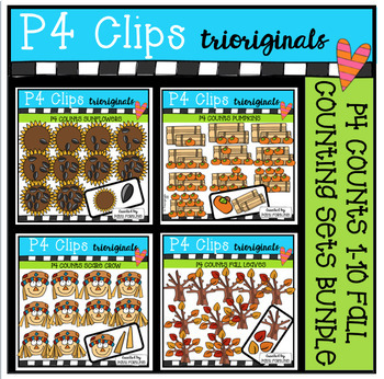 P4 COUNTS 1-10 Seasons BUNDLE (P4 Clips Trioriginals Clip Art)