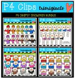 P4 CRAFTY Snowman RAINBOW BUNDLE (P4 Clips Trioriginals Clip Art)
