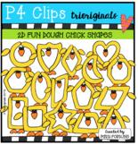 P4 DOUGH 2D FUN Chick Shapes (P4 Clips Trioriginals) EASTER CLIPART