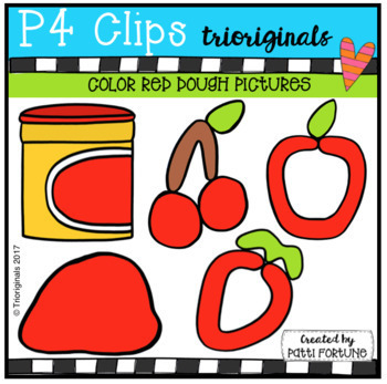 P4 DOUGH Color Pictures BUNDLE (P4 Clips Trioriginals Clip Art)