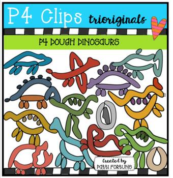 P4 DOUGH Dinosaurs (P4 Clips Trioriginals)