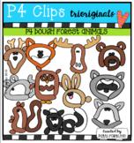 P4 DOUGH Forest Animals (P4 Clips Trioriginals) ANIMAL CLIPART