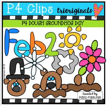 P4 DOUGH PICTURES Groundhog Day (P4 Clips Trioriginals)