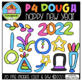 P4 DOUGH Happy New Year 2021 (P4 Clips Trioriginals) NEW YEAR CLIPART