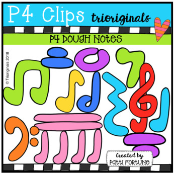 P4 DOUGH Music Notes (P4 Clips Trioriginals)
