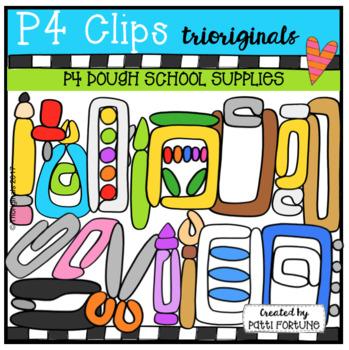 P4 DOUGH School Supplies (P4 Clips Trioriginals)
