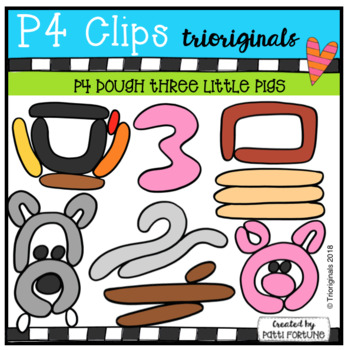 P4 DOUGH Three Little Pigs (P4 Clips Trioriginals)