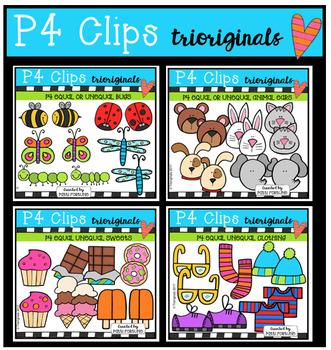 P4 EQUAL or NOT Variety BUNDLE (P4 Clips Trioriginals Clip Art)